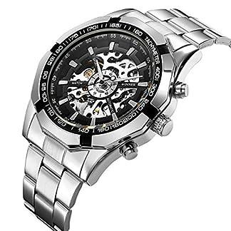 Affute-Herren-Mechanische-Skelett-Ziffernblatt-Analog-Handgelenk-Uhren-Edelstahl-Armband