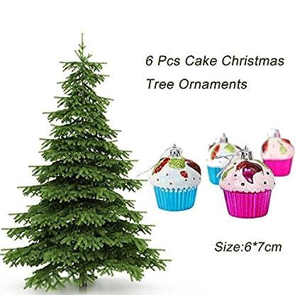 FeiliandaJJ-6Pcs-Weihnachtsbaum-Anhnger-Cupcake-Christbaumschmuck-Party-Hochzeit-Haus-Dekoration-Feiertags-Geschenke