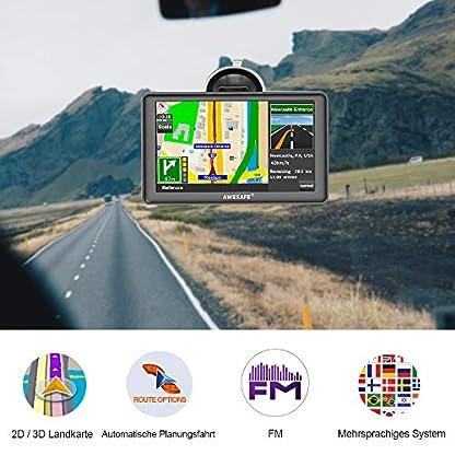 AWESAFE-GPS-Navi-Navigation-7-Zoll-Touchscreen-fr-Auto-PKW-LKW-Europa-Traffic-8GB256M-Multilingual-Navigationsgert-2018-Lebenslang-Kostenloses-Kartenupdate-mit-Sprachfhrung