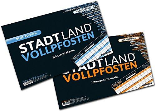 DENKRIESEN-STADT-LAND-VOLLPFOSTEN-A3-DOPPELPACK-Partyspiel-Die-beiden-XXL-Stadt-Land-Fluss-Varianten-im-Set-2×50-Blatt-STADT-LAND-FLUSS-NEU-AUFGELEGT-BLOCK-Gesellschaftsspiel