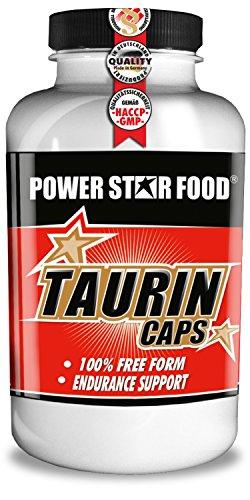 TAURIN CAPS – 100% rein & hochdosiert – angereichert mit Vitamin B6 – Rohstoffe in geprüfter Arzneibuch-Pharmaqualität – 200 Kapseln – Made in Germany