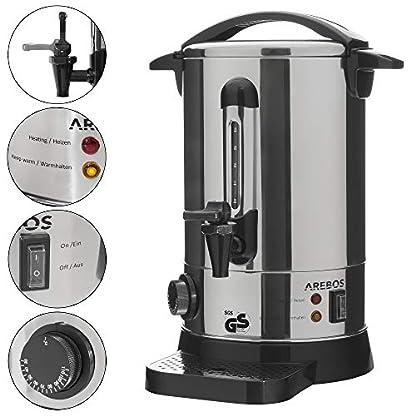 AREBOS-Glhweinkocher-Elektrischaus-Edelstahlmit-Auslasshahn-Thermostat-und-berhitzungsschutzIdeal-als-Heisswasserspender-oder-GlhweintopfTemperatureinstellung-von-30-110C-7-L