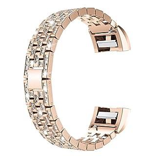 Armbnder-fr-Fitbit-Charge-2-VNEIRW-Kristall-Edelstahl-Ersatzarmbnder-Ersatz-Uhrenarmband-Strangarmbnder-Uhrarmbnder-fr-Damen