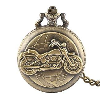 Herren-Taschenuhr-Bronze-Motorrad-dicke-Kette-Taschenuhr-Halskette-Anhnger-Herren-Mann-Geschenk-Geschenk-fr-Mnner