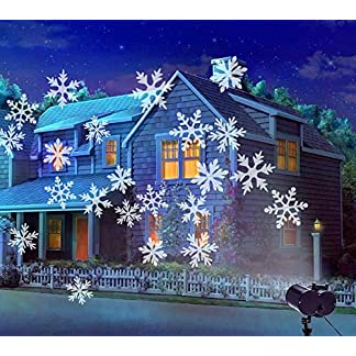LED-Projektor-GreenClick-Schneeflocke-Projektionslampe-Lampe-Licht-Romantische-Dekoration-Wasserdicht-Schneefall-Lichteffekt-fr-Weihnachten-Halloween-Hochzeit-Party-ValentinstagWeie-Schneeflocke