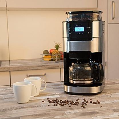 Ultratec-Kaffeemaschine-Kaffee-Vollautomat-mit-Mahlwerk-und-Timerfunktion-EdelstahlSchwarz