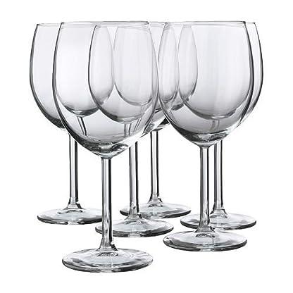 IKEA-6-er-Set-Rotweinglas-SVALKA-Glserset-mit-sechs-Rotweinglsern-mit-30cl-Inhalt-18cm-hoch-splmaschinenfest