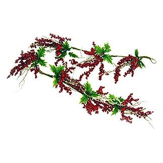 Viscio-Trading-165698-Kette-mit-Beeren-Weihnachten-Kunststoff-Rot-15-x-2-x-01-cm