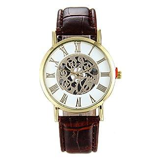 Lolamber-Armbanduhr-fr-Herren-Damen-Echtleder-Uhr-Armband-Mnner-Analog-Quarz-Geschfts-Klassisch-Analog-Quarz-Dnn-Armbanduhr-Gents-Luxus-Elegant-Brown-Uhr-mit-Schwarz-Zifferblat