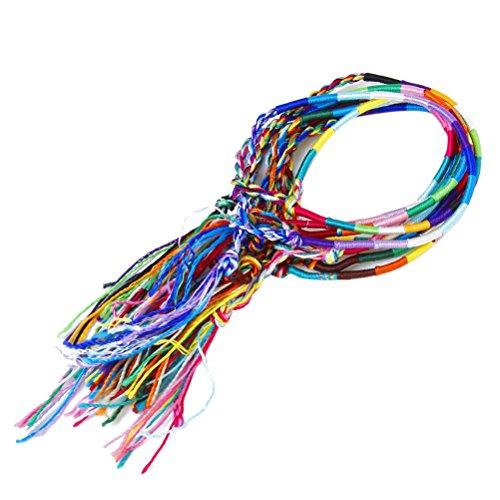 PIXNOR 9st. handgemachte Freundschaft Armbänder geflochten Thread Handgelenk Fußkettchen (zufällige Farbe)