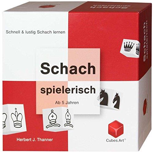 CubesArt-Schach-spielerisch-Schachspiel-fr-Kinder-und-Anleitung-mit-12-Lernspiele-rotwei