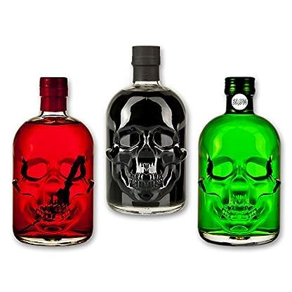 Totenkopf-Absinthe-Set-1x-Amnesie-Absinthe-05l-1x-Black-Head-Absinthe-05l-1x-Red-Chili-Head-Absinthe