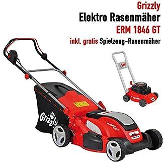 Grizzly-Elektro-Rasenmher-mit-Stahlgehuse-1600-W-1800-W-Turbo-Power-Motor-41-cm-46-cm-Schnittbreite-7-fach-30-bis-75-mm-zentrale-Hhenverstellung-Inkl-Kinderrasenmher-gratis