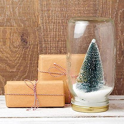 TUPARKA-Miniatur-Flaschenbrste-Bume-Mini-Weihnachtsbume-Tabletop-Bume-Schnee-Ornamente-fr-Weihnachtsfeier-Dekoration-DIY-Zimmer-Dekor-Diorama-Modelle