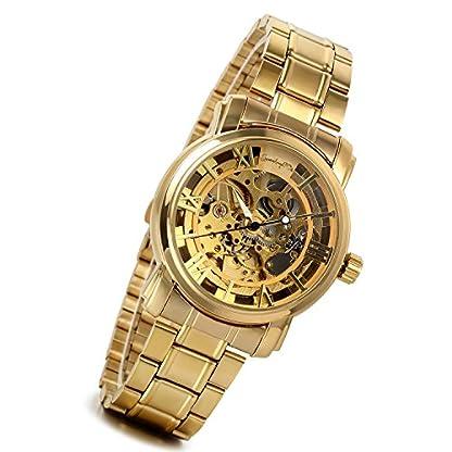 lancardo-Herren-Armbanduhr-Business-Casual-Skelett-mechanische-Mechanik-Automatik-Uhr-mit-Edelstahl-Armband-Gold-Farben