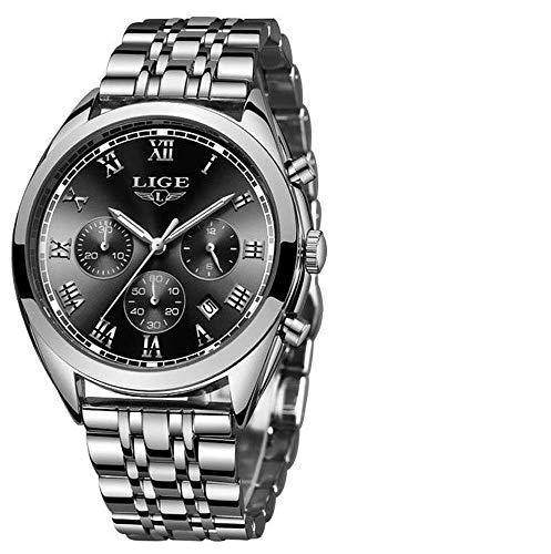 LIGE-Herren-Uhr-Analog-Quarz-mit-Edelstahl-Armband-9852