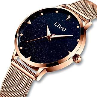 Damen-Uhr-Frauen-Mdchen-Rose-Gold-Wasserdichte-Luxus-Edelstahl-Mesh-Armbanduhr-Klassisch-Sport-Designer-Mode-Leuchtende-Analoge-Uhren