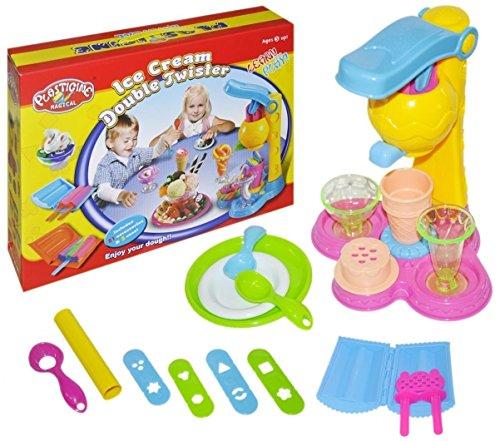 PREMIUM-Hochwertige-Eiscrememaschine-fr-Kinder-XXXL-Set-26-Teile-Knete-in-5-Farben-Eismaschine-Softeismaschine-Eis-Eiscreme-Ice-Cream-Kinderknete-Knetmasse-Eisladen-Kaufladen-Eismann-Spiel