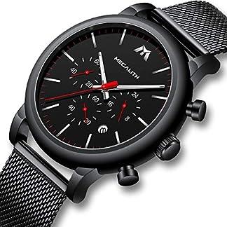 Herren-Uhr-Mnner-Chronographen-Militr-Wasserdicht-Schwarz-Edelstahl-Mesh-Armbanduhr-Mann-Groe-Classic-Luxus-Business-Datum-Leuchtende-Design-Analog-Uhren