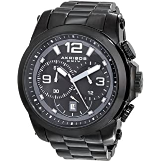 Akribos-XXIV-Damen-Armbanduhr-Retro-Analog-Quarz-mit-Lederband