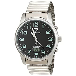 Time-Piece-Herren-Armbanduhr-Funk-Zugband-Analog-Quarz-TPGA-10239-22M