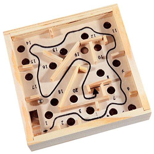 Sharplace-Kinder-Holzspielzueg-Holz-Labyrinth-Puzzle-Balance-Board-Perle-Labyrinth-Brettspiel-Kinder-Pdagogisches-Spielzeug