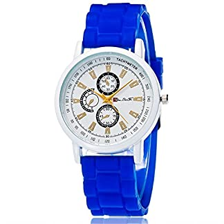 rainbabe-blau-Damen-Herren-Silikon-Band-Gurt-Analog-Analog-Quarz-Armbanduhr