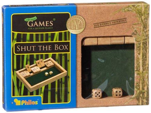 Philos-3270-Shut-The-Box-9er-Bambus-Green-Games-Wrfelspiel-Klappenspiel