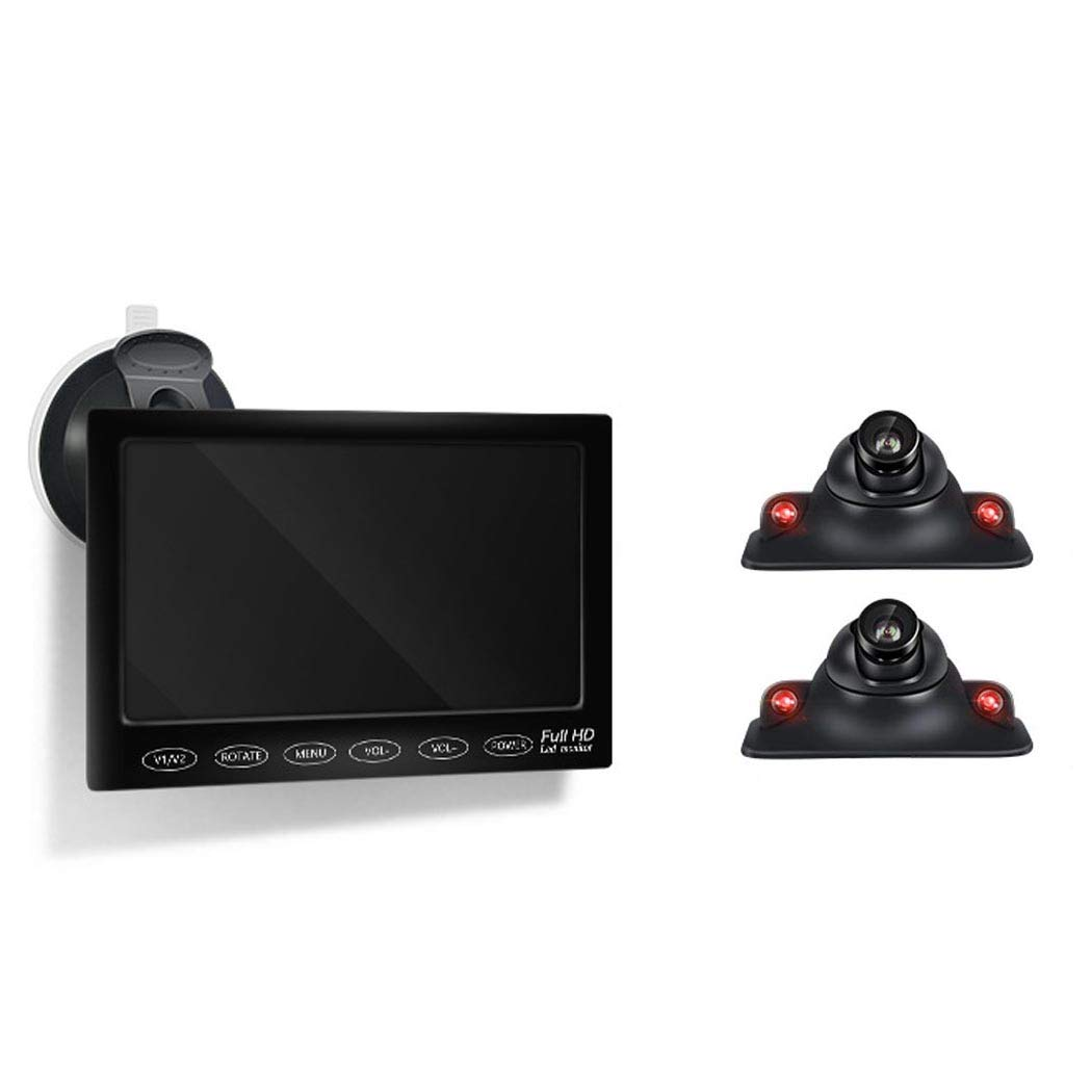 Wus-Rckfahrkamera-Kit-Zwei-Seiten-berwachung-des-blinden-Flecks-Einparkhilfe-Nachtsicht-Einparkhilfe-mit-7-Zoll-Monitor-Weitwinkel-wasserdicht