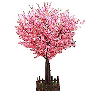 Pflanzen-Knstlicher-Baum-Massivholz-Simulations-Pfirsich-Baum-Flschungs-Baum-groer-Boden-Pfirsich-Baum-Cherry-Tree-Wishing-Tree-Decoration-Wohnaccessoires-Deko