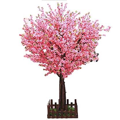 Schner-knstlicher-Baum-Knstliche-Pfirsich-Baum-Simulations-festes-Holz-Kirschbaum-groe-wnschende-Baum-Mall-Dekoration-gesetztes-Rosa-Indoor-Outdoor-Bume