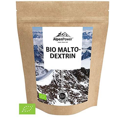ALPENPOWER | BIO MALTODEXTRIN | Hochwertiges Kohlenhydratgemisch | Feines Pulver | Ideal für Kraft – und Ausdauersport | 100% reines Maltodextrin 19 | Organic Maltodextrin | 1000 g