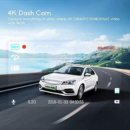 Autokamera-4K-Ultra-HD-Dashcam-TOGUARD-Armaturenbrett-Kamera-3-Zoll-LCD-Bildschirm-Recorder-Fahren-170–Weitwinkel-G-Sensor-WDR-Parkmonitor-Loop-Aufnahme-Bewegungserkennung