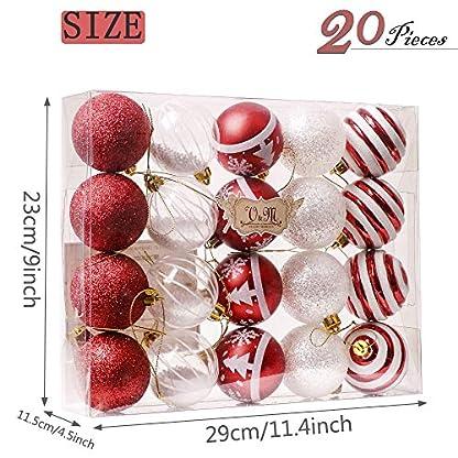 Valery-Madelyn-Weihnachtskugeln-20-Stcke-6CM-Plastik-Christbaumkugeln-Weihnachtsdeko-mit-Aufhnger-Weihnachtsbaumschmuck-fr-Weihnachten-Dekoration-MEHRWEG-Verpackung