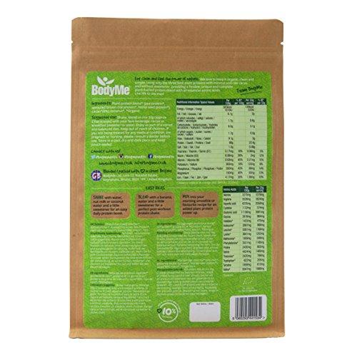 BodyMe Bio Vegan Protein Pulver Mischung | Roh Kakao | 1Kg | UNGESÜßT mit 3 Pflanze Proteine