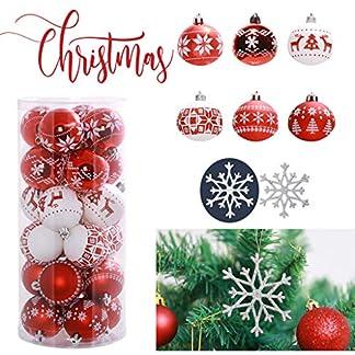 FeiliandaJJ-24PCS-6CM-Weihnachtskugel-Boxed-Gemalt-Kugel-10PCS-Schneeflocke-Weihnachten-Deko-Anhnger-Christbaumkugeln-fr-Weihnachtsbaum-Party-Home-Hochzeit