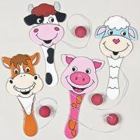 Paddleballschlger-Tiere-auf-dem-Bauernhof-fr-Kinder-als-kleine-berraschung-oder-als-Preis-bei-Partyspielen-4-Stck