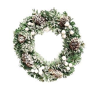 Prevently-30cm-Frohe-Weihnachten-Kranz-Weihnachtskiefer-Kegel-Schneeflocke-Kranz-Tr-Wand-Ornament-Girlande-Dekoration