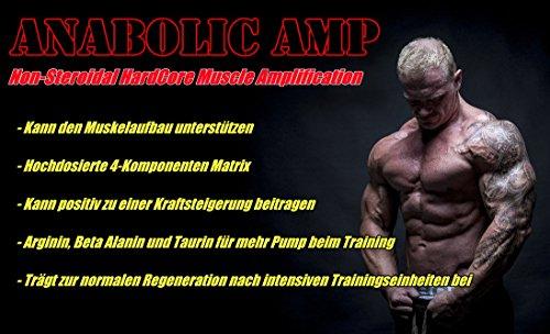 ANABOLIC AMP | 3x 90 Kapseln | Non-Steroidal Hard Core Muscle Amplification |The Original | for MaXimum Results | Muskelaufbau Muskelschutz Muskelstraffung für Männer & Frauen | Premium GMP & ISO 9001 Qualität