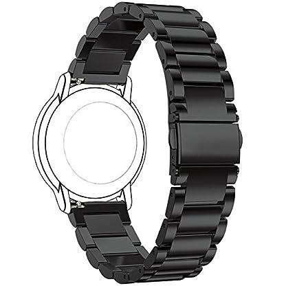 Ersatzuhrenarmband-fr-FossilQ-Uhrenarmbnder-aus-Metall-von-Ruentech-Farbauswahl-Breite-22-mm-dreigliedriges-Metallarmband-fr-folgende-Herrnuhren-FossilQ-Crewmaster-Gen-2-Hybrid-FossilQ-Founder-Gen-2-m