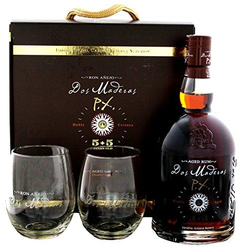 Dos-Maderas-PX-55-Years-Old-Aged-Rum-mit-Geschenkverpackung-mit-2-Glsern-1-x-07-l