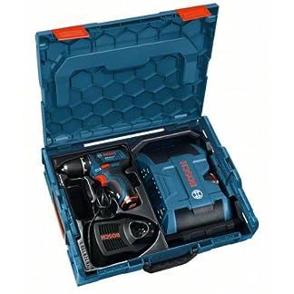 BOSCH-Akkuschrauber-GSR-108-2-Li-Akku-Radio-GML-108-mit-2x-Akku-20-Ah-Ladegert-L-Boxx-0601429204