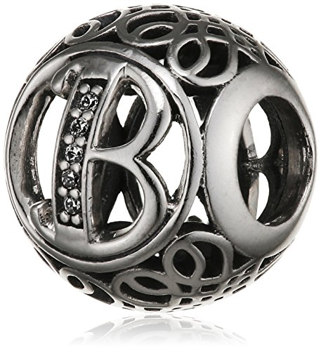 "Pandora Damen-Charm Vintage ""B"" 925 Zirkonia weiß-791846CZ"