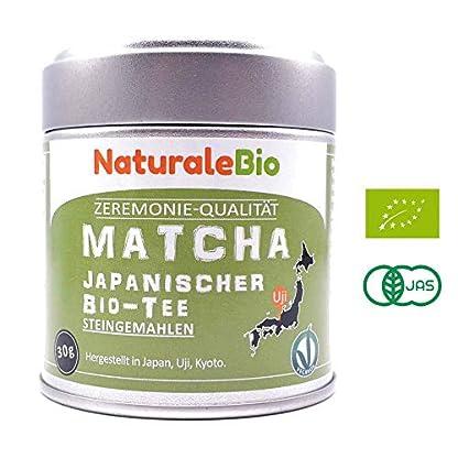 Matcha-Tee-Pulver-Bio-Ceremonial-Grade-Original-Green-Tea-aus-Japan-Grntee-Pulver-Matcha-Zeremonie-Qualitt-hergestellt-in-Uji-Kyoto-Ideal-zum-Trinken-Kochen-und-in-der-Latte-30g-Dose