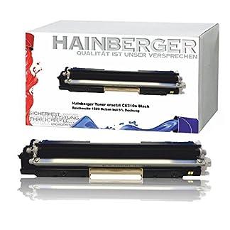 Hainberger-Black-Toner-kompatibel-zu-HP-CE310a-fr-HP-LaserJet-Pro-100-Color-MFP-M175-Pro-M275-Color-LaserJet-Pro-CP1021-CP1025-CP1028-CE310A-CE313A-Schwarz-1200-Seiten-Color-je-1000-Seiten