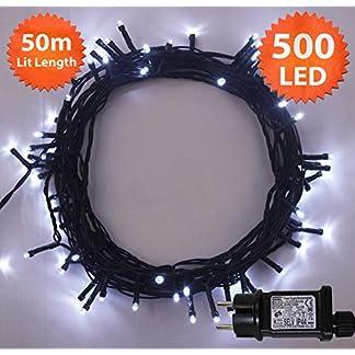 Weihnachts-Lichterketten-500-LED-Helle-weie-Baum-Lichter-Innen-und-im-Freiengebrauch-Weihnachtsschnur-Lichter-Gedchtnisfunktion-Netzbetriebene-Grnes-Kabel