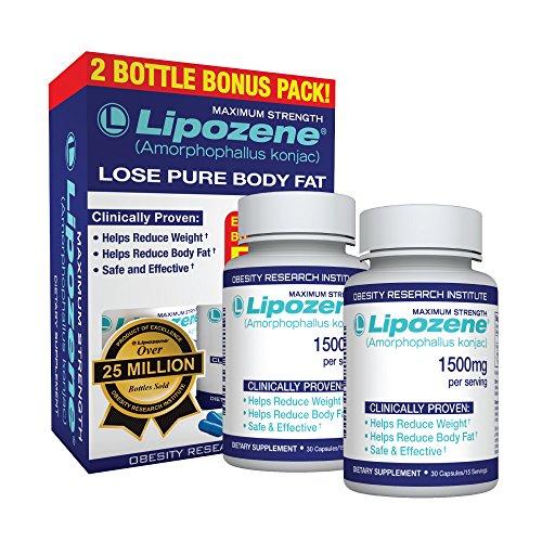Lipozene – Gewichtsverlust Diät Supplement – Appetithemmer – Zwei Dosen 60 Kapseln insgesamt