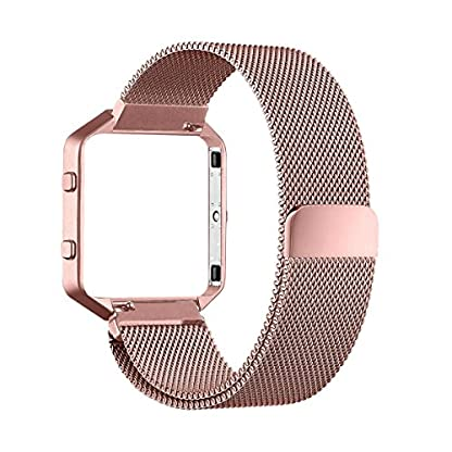 Fitbit-Blaze-Frame-Armband-67-81-Zoll-mit-Einzigartige-Magnet-Verschluss-PUGO-TOP-Replacement-Wrist-Band-Uhrenarmband-fur-Fitbit-Fitness-Uhr-Blaze