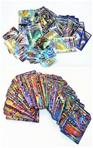 200-Pcs-Pokemon-TCG-Karten-53-Ex-Cards-60-Mega-Karten-80-gx-Cards-7-Energie-Karten-Englische-fassung
