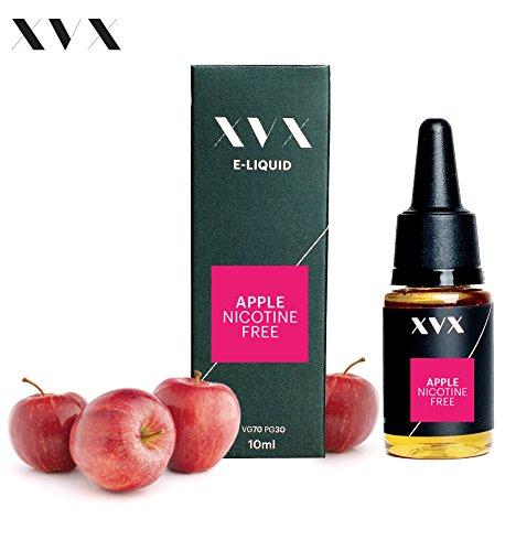 XVX E-Liquid  Apfel Geschmack  Elektronisches Liquid Für E-Zigarette  Elektronische Shisha Liquid  10ml Flasche  Nadelspitze  Präzise Befllung  Wähle Deinen Lifestyle  Neu Für 2016  Digitaler Rauch  Nikotinfrei  Tabakfrei